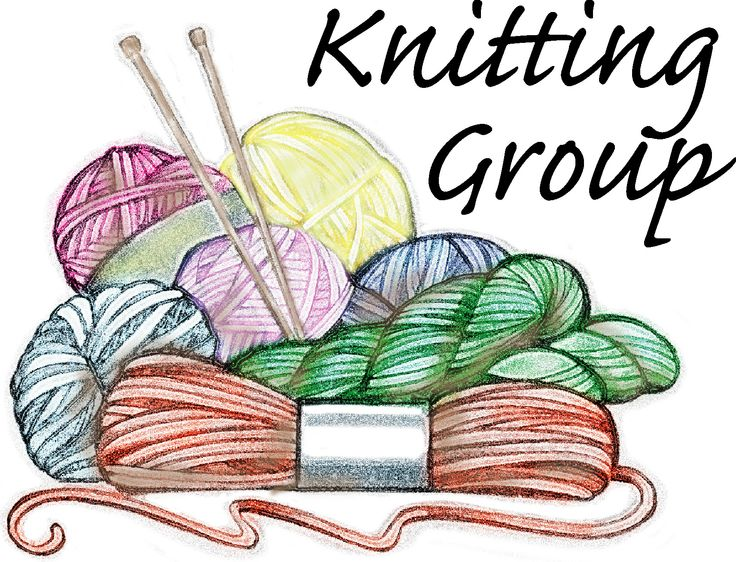Funny knitting clipart.