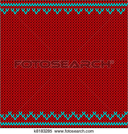 Clipart of knitted fabric with ornaments k8183285.