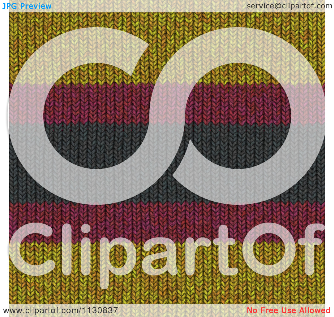 Clipart Of A Seamless Stripes Knit Fabric Texture Background.