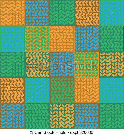Vector of knitted fabric.