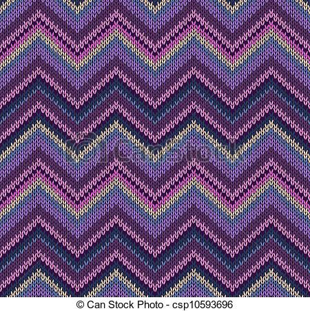 EPS Vectors of Beautiful Knitted Fabric Pattern.