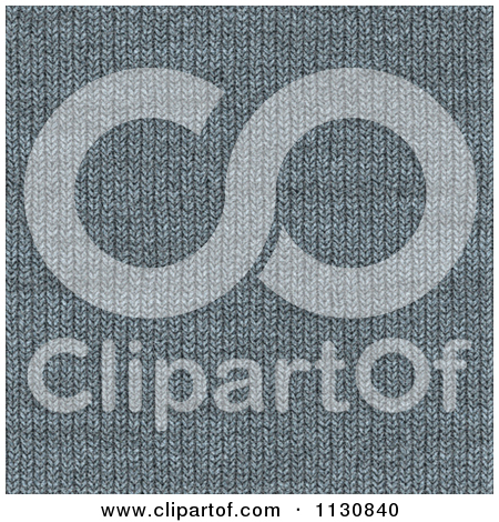 Clipart Of A Seamless Gray Knit Fabric Texture Background Pattern.