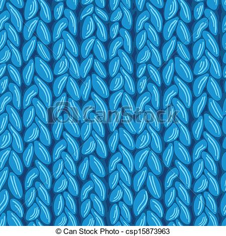 Clip Art Vector of Knit sewater fabric seamless pattern texture.