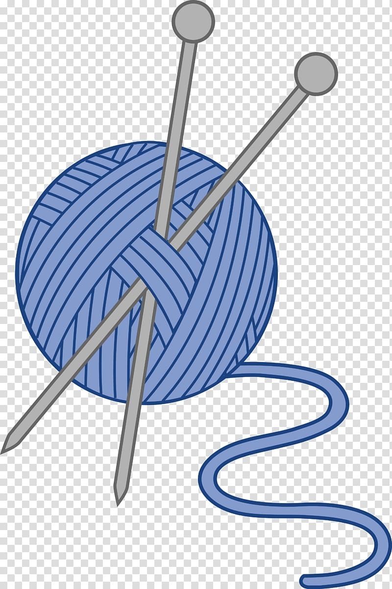 Knitting needle Crochet Yarn , Craft transparent background PNG.