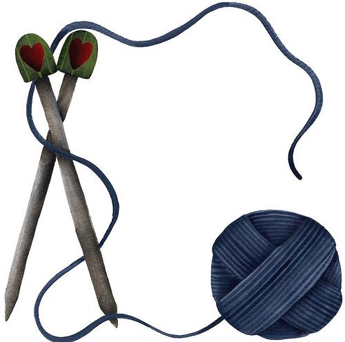 Knitting Border Clipart.