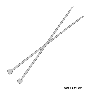 Knitting needle clipart clipart images gallery for free.