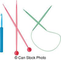 Knitting needles Clipart Vector Graphics. 1,406 Knitting needles.
