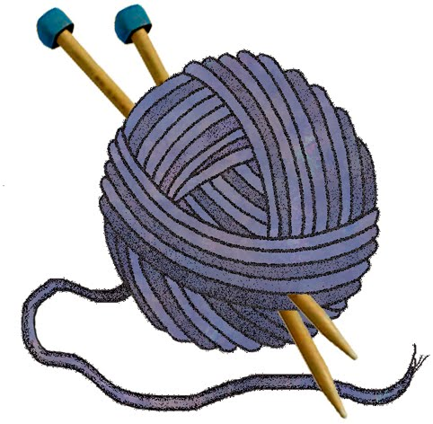 Knitting Needles And Yarn Clipart.
