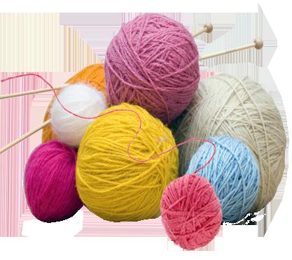 Balls of Wool Knitting image.