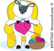 Knitting Clip Art Royalty Free. 5,635 knitting clipart vector EPS.