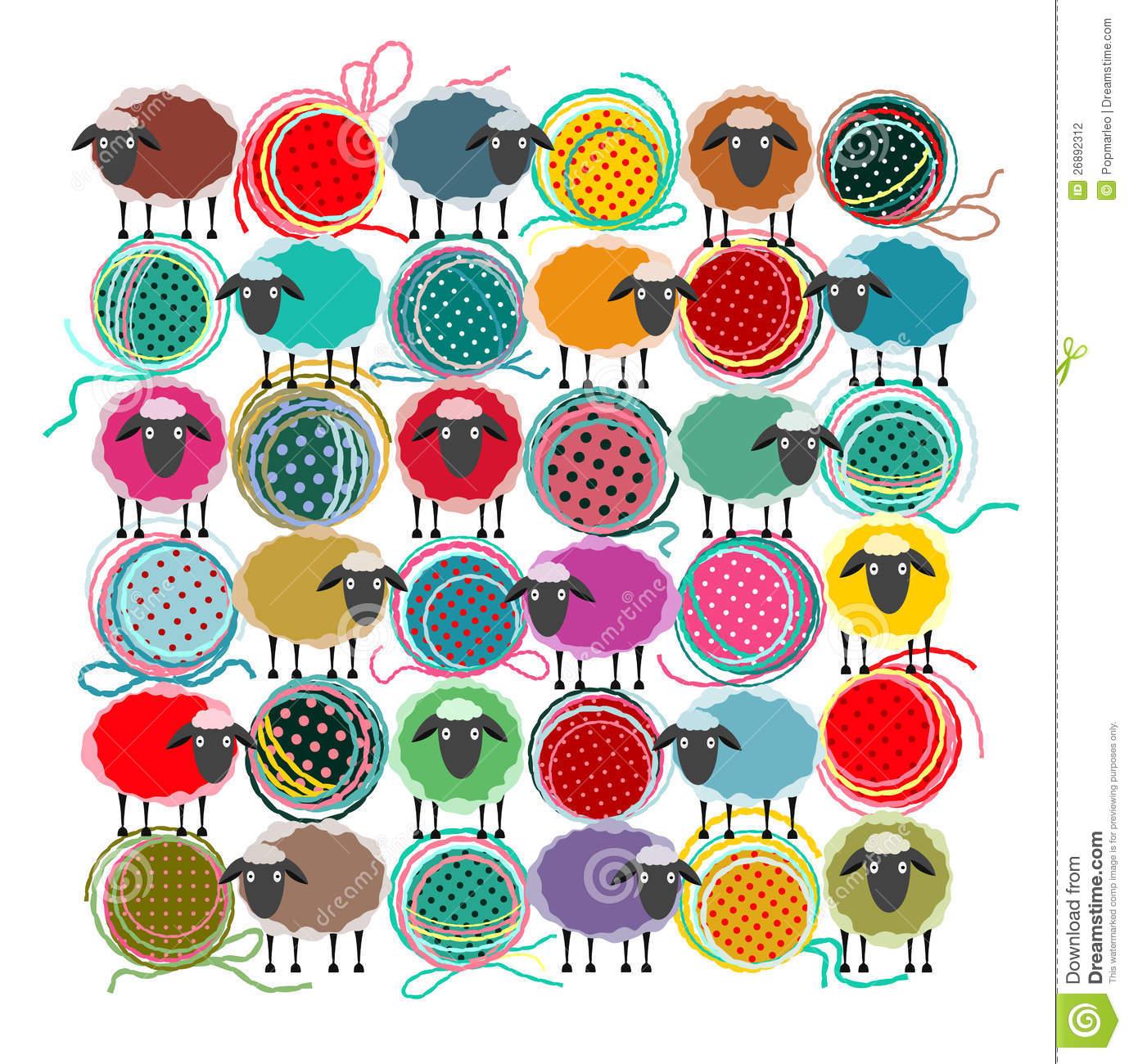 Knitting Stock Illustrations.