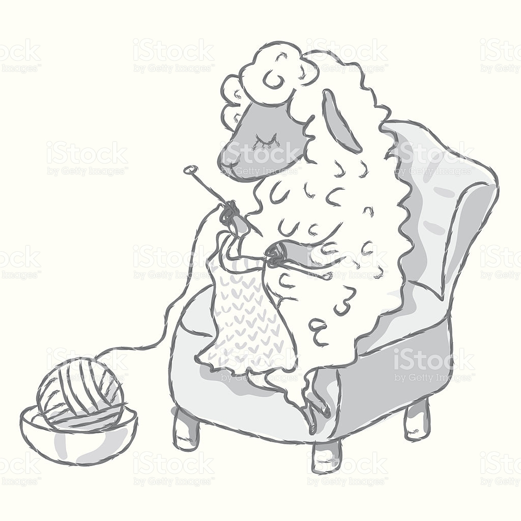 Knitting Sheep stock vector art 165518891.