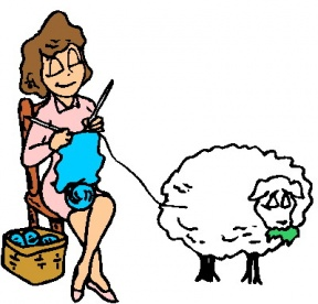 Knitting Sheep Clipart.