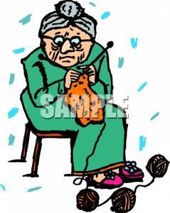 Knitting Old Woman.