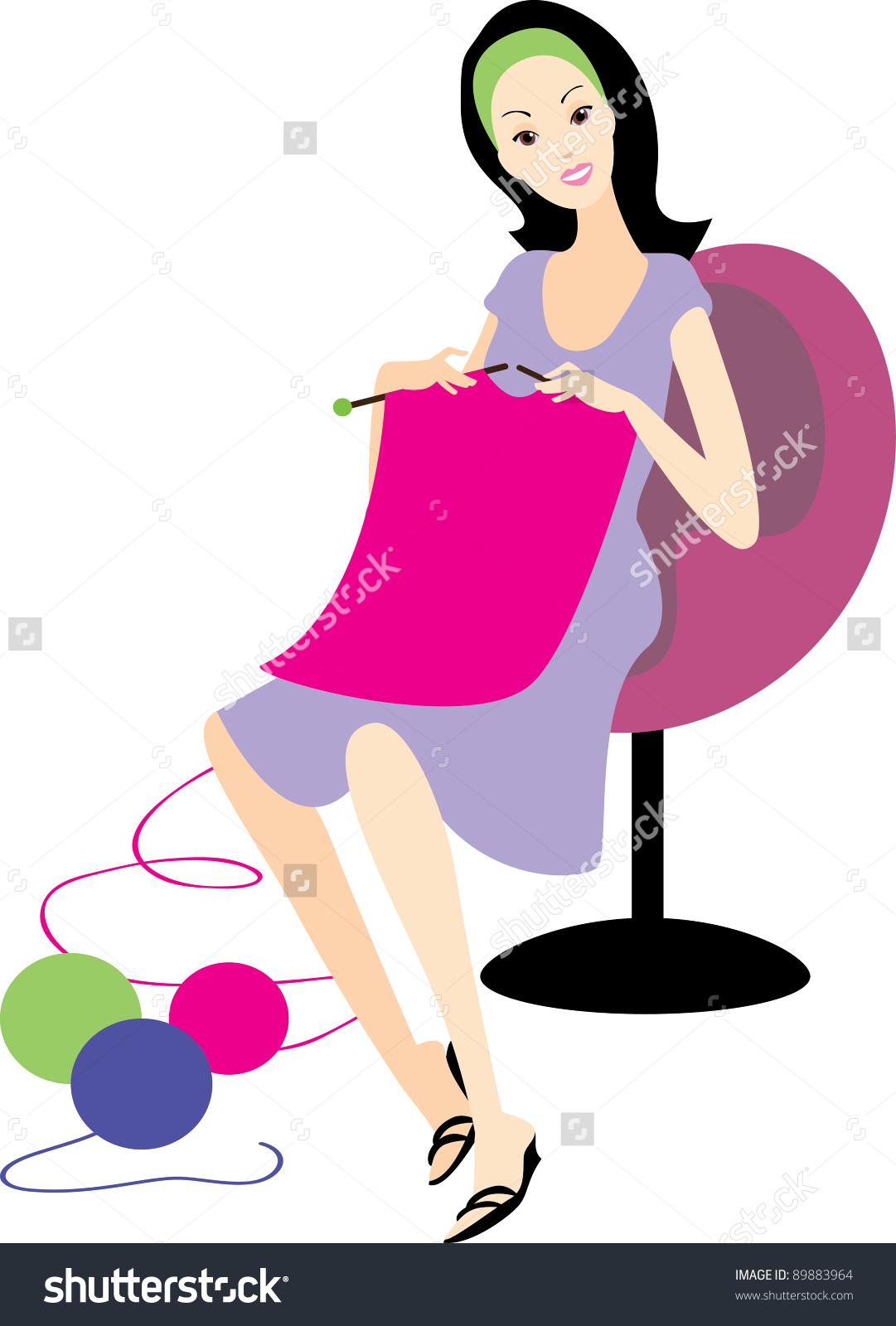 Woman Knitting Clipart : Knitting women clipart clipground