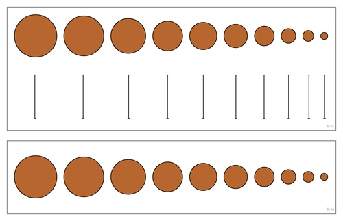 Montessori Materials: Cards for Knobbed Cylinders.