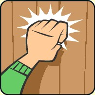 Person Knocking On Door Clipart.