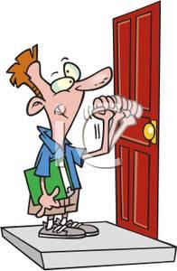 Clipart knock on door.