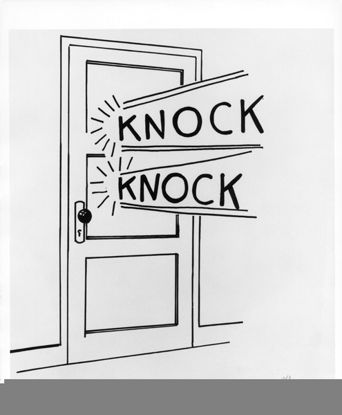 Door Knock Clipart.