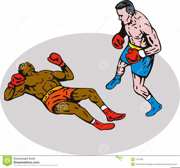 Boxing Knockout Clipart.