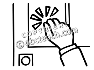 Knocking Clipart.