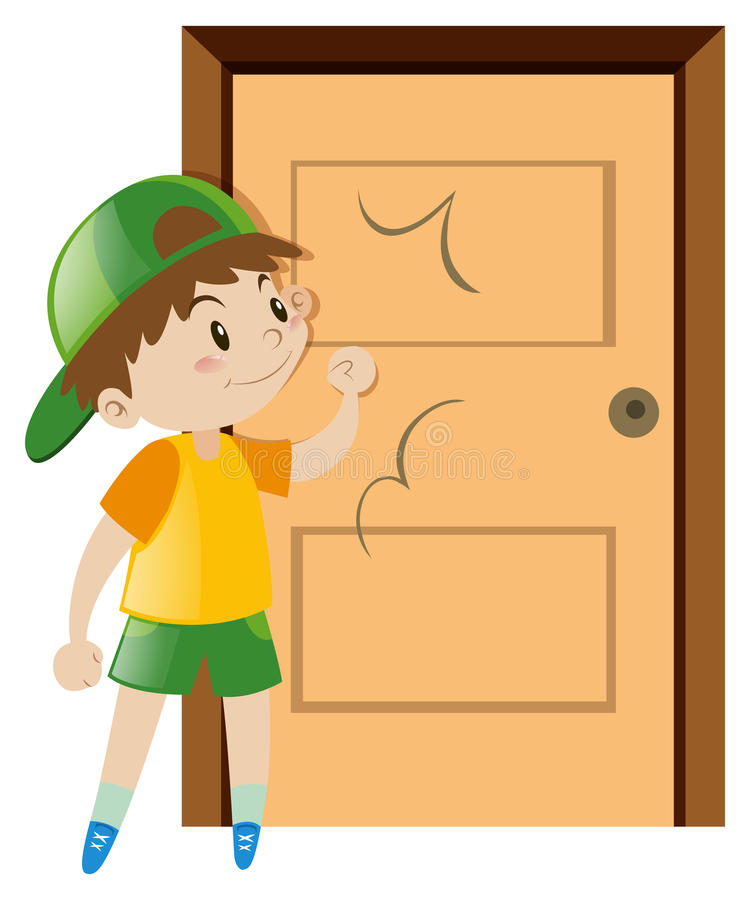 Knocking Door Stock Illustrations.