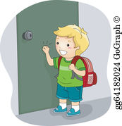 Knock Door Clip Art.