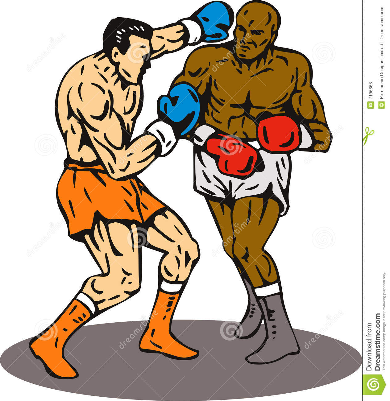 Knockout Punch Clipart.