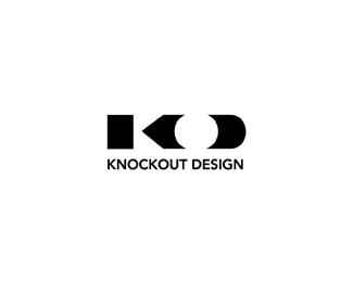KnockOut Design Typographic Logo Inspiration.