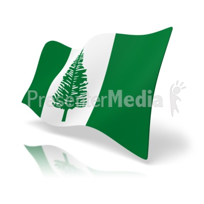 Flag Norfolk Island.