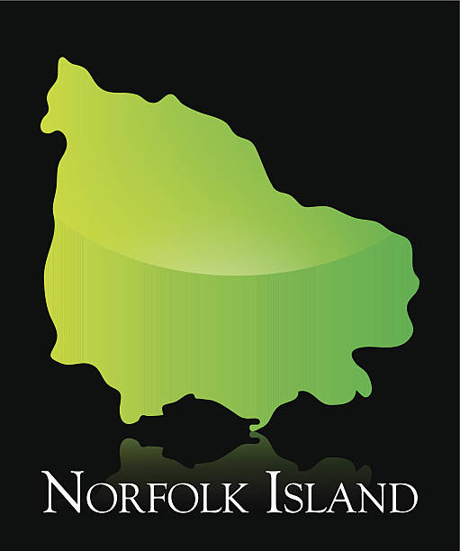 Norfolk Island Map Clip Art, Vector Images & Illustrations.