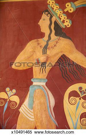 Stock Image of Greece, Crete, archeological site of Knossos.