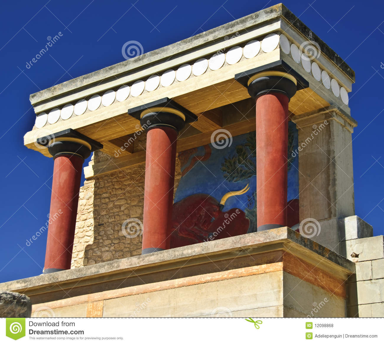 Knossos, Crete, Greece Royalty Free Stock Images.