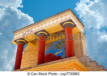 Stock Photos of Knossos palace at Crete, Greece Knossos Palace, is.