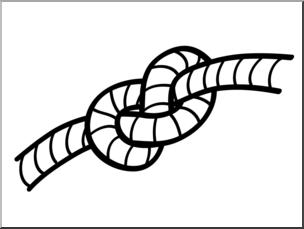 Clip Art: Basic Words: Knot B&W Unlabeled I abcteach.com.