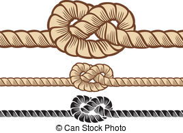 Rope knot clip art.