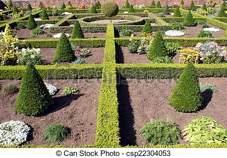 Stock Images of topiary. knot garden csp22304053.