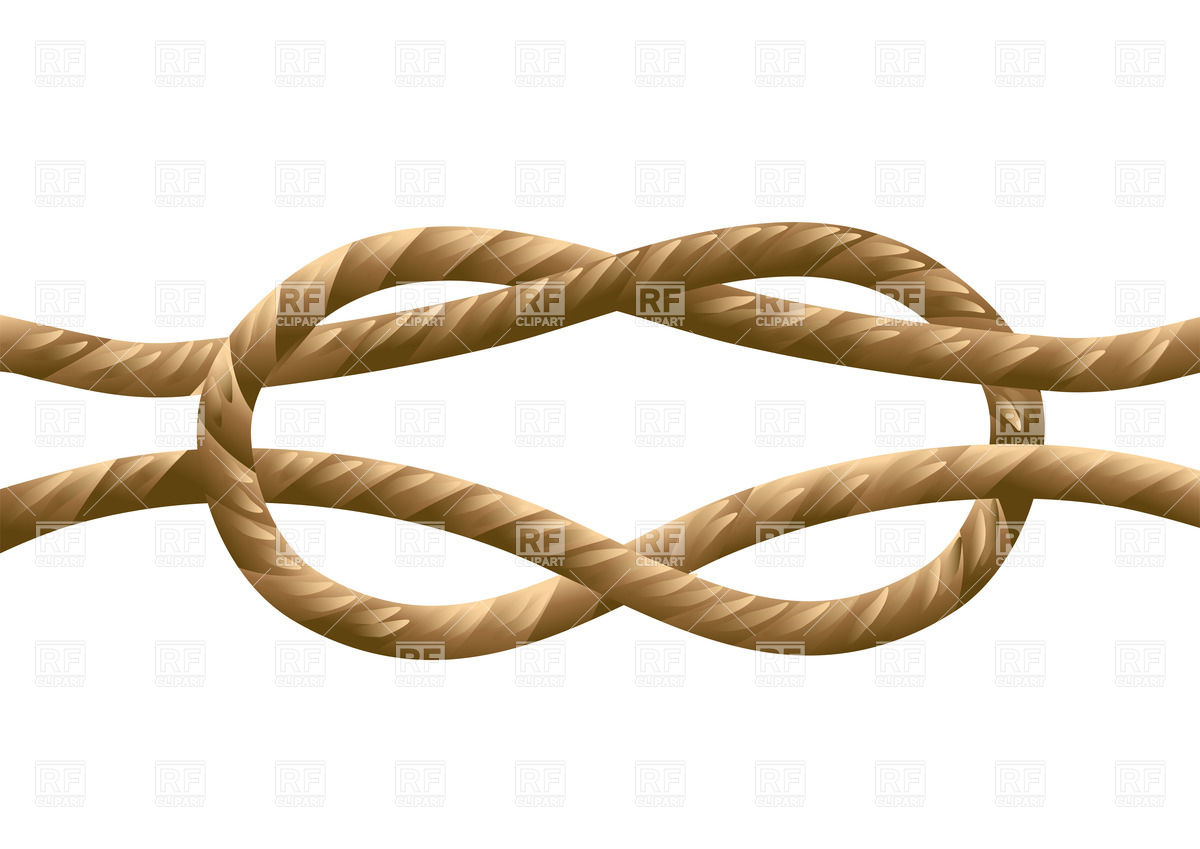 Marine knot isolated on a white background Vector Image #27563.