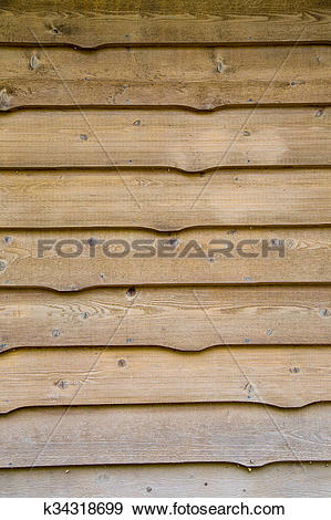 Stock Photograph of knotty cedar siding k34318699.