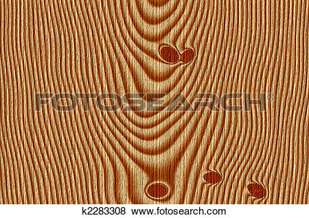 Stock Illustration of knotty wood plank k2283308.