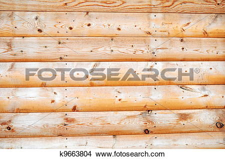 Stock Photo of Knotty Pine Wall Background k9663804.