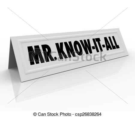Stock Illustration of Mr Know.