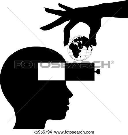 Clipart of Student mind learn world knowledge education k5956794.