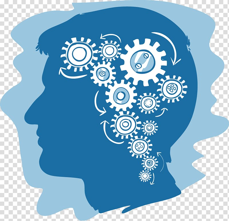 Person with gogs in head illustration, Knowledge base Knowledge.