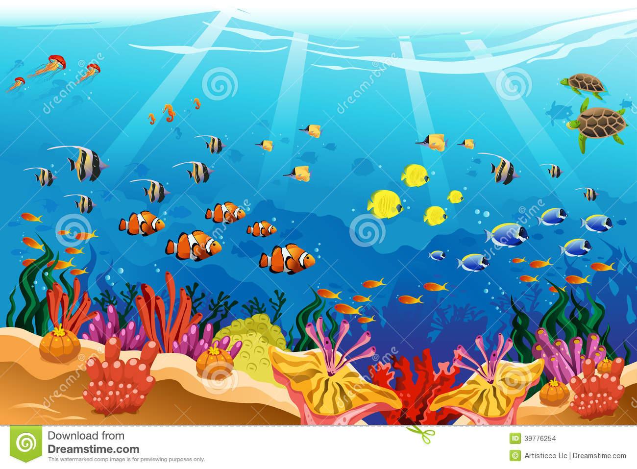 ocean underwater drawing scene Gallery.