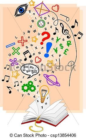 Book of knowledge clipart.
