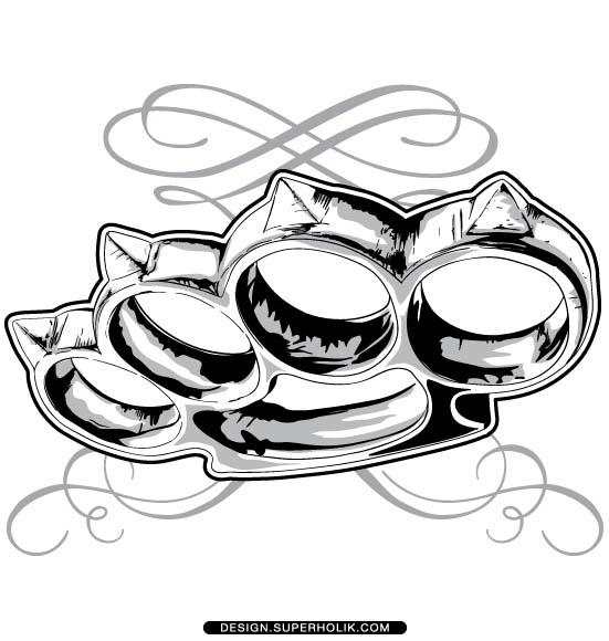 Brass Knuckle Clipart.