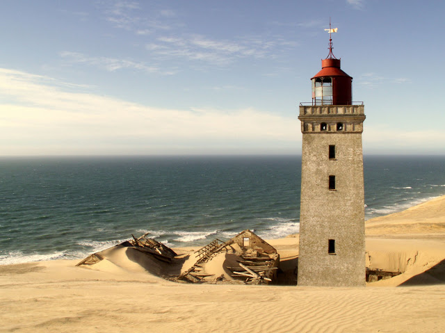 Buried in sand: The abandoned Rubjerg Knude Lighthouse.