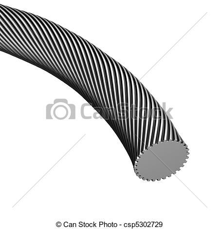Stock Illustration of Cable Knurled.