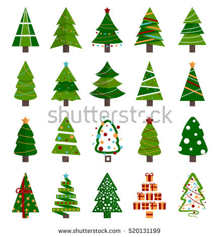 Christmas Tree Stock Images, Royalty.